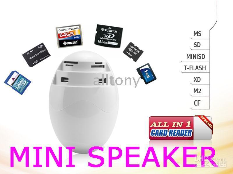 computer memory - Multiple mini speakers USB HUB stereo for PC computer Memory Card Reader SD MS TF M2 CF etc