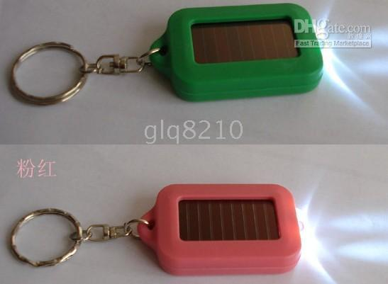 Wholesale Solar Key Chain Car Keychain Light LED Lights Environmental Protect Emergency Lights NEW