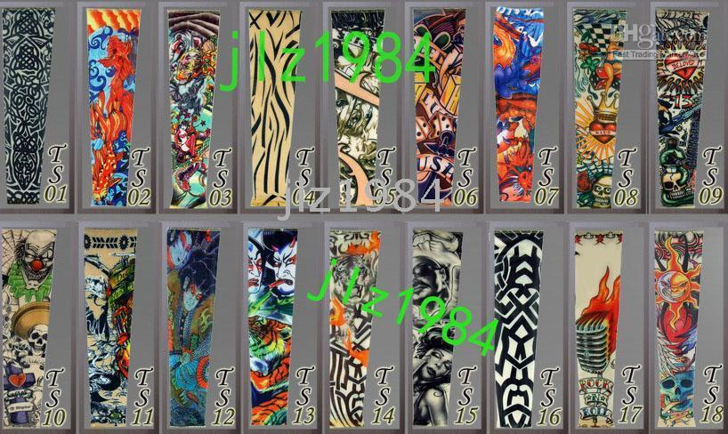 Wholesale 100pc Tattoo Sleeves Tattoo T Shirt Dress Sleeve for Arms or Legs Colorful for tattoo supplies