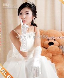 wedding glove bridal glove white satin 20-25CM glove