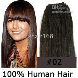Wholesale 5sets quot wide human hair weft extensions quot g dark brown mix