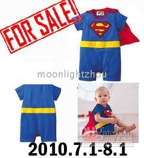 Wholesale Discount gt gt Baby One Piece Rompers romper boys superman Batman blue gray