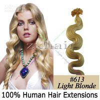 "100S 20"" body wave Nail tip hair Human Hair Extensions ..."