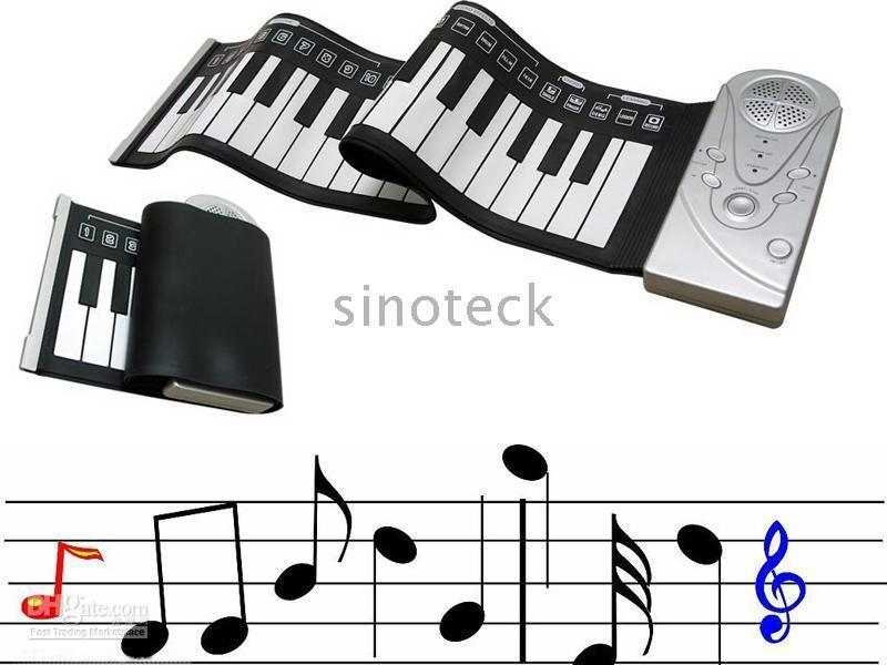 Wholesale Soft Electronic Keyboard Piano keys with CE Flexible Roll Up