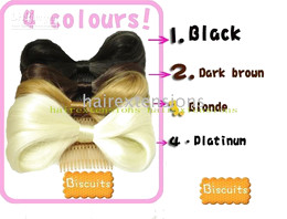Wholesale Lady GaGa Vogue lady hair bow hair bow with comb black brown blonde platinum mix order