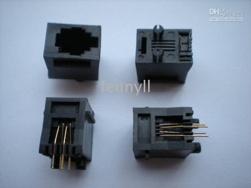 Wholesale Modular PCB Jack Telephone Net LAN Connector RJ11 P4C P6C and RJ45 P8C per