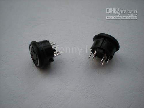Wholesale Mini pin pin pin Pin Circular PCB Mount DIN Connector per