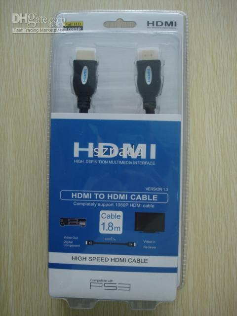 Wholesale For Version Gold DVI male to HDMI Cable m for HD HDTV LCD PS3