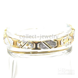 twinkling 18K yellow gold gep solid bracelet jewelry