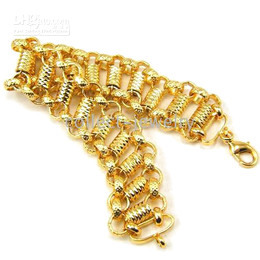 SPLENDIDE 18K YELLOW gold gep solid FILL GP BRACELET