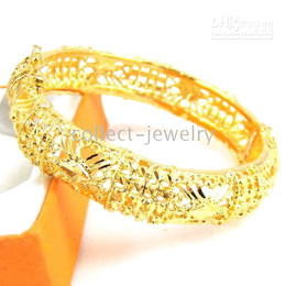 women's 18K yellow gold jewelry solid new bangle gep