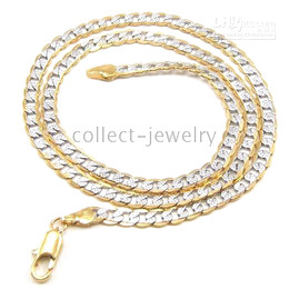 exalted 18K yellowwhite gold gep jewelry solid necklace