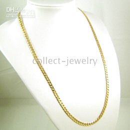 splendid 18K yellow gold solid necklace gp jewelry gep