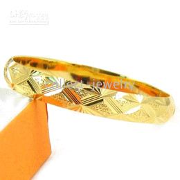 splendide 18K yellow gold gep solid nice bangle jewelry
