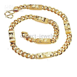 Exquisite 14K Solid Gold GF Personality Necklace 95.7G