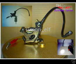 Wholesale 5X Tattoo machine gun Mount able LED Light Adjust able