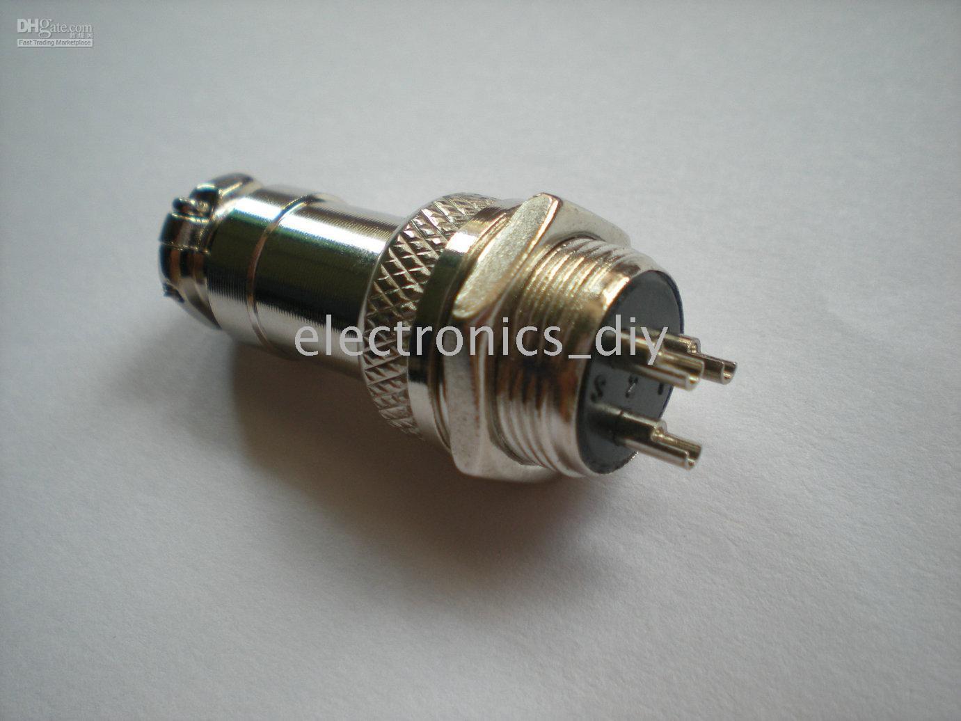 al por mayor conectores xlr 16mm-conector del cable XLR de 3 pines Diámetro 16 mm para el montaje Montaje de chasis 40 unidades por lote