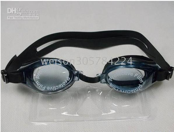 Wholesale free ship the lowest price in the world Goggles with Silicone earplugs Swimming glasses