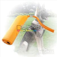 Wholesale Portable Ultrasonic Dog Pet Repeller Training Device Collar Trainer Deterrent Bark Stopper LED New