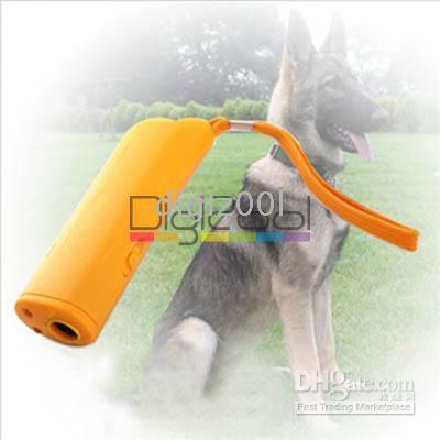 Wholesale Portable Ultrasonic Dog Pet Repeller Training Device Collar Trainer Deterrent Bark Stopper LED New
