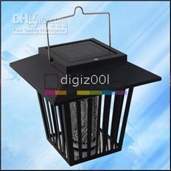 Wholesale Solar Power Garden LED Mosquito Killer Fly Pest Insect Bug Landscape Zapper Lights Lamp