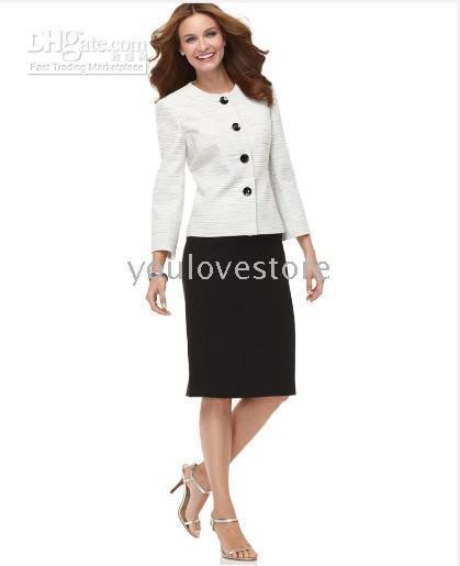 2017 White Women Skirt Suit, Ladies Women Skirt Suit, Women ...