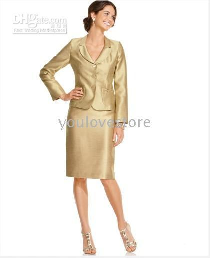 Women Skirt Suit Two Button Gold Women Skirt Suit , Tailor Suit, Women Business Skirt Suit, Custom Skirt Suit, Brand Skirt Suit