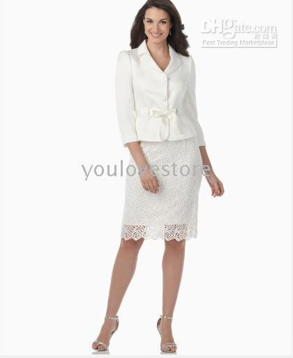 Two Button ladies white skirt - Ladies Skirt Suit White Women Skirt Suit Fashion Skirt Suit Women s Suits
