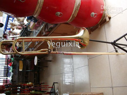 Wholesale Quality new Gold Bass Trombone F Bb tone Berkeley Fang JBSL