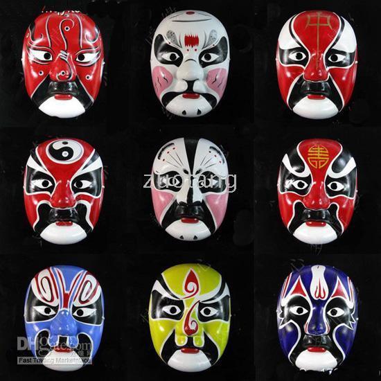 Wholesale Paper Mache Venetian Mask Decoration Ideas Masks For Men Chinese Opera Masks mix Free