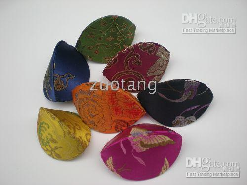 Wholesale Silk Jewelry Ring Boxes pack Mix Color Pattern inch Mini Jewellery Box