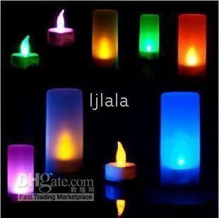 Wholesale LED Electronic Candle Light Color Change Sensor Flicker