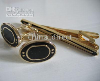 Wholesale boxed Men s set Cuff link tie clip CUFFLINKS cuff button tie pin Gift box sets