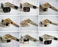 Wholesale Men s set Cuff link tie clip CUFFLINKS cuff button tie pin Gift box sets NEW DESIGN