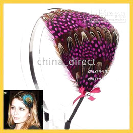 Feather Headband CHIC CELEBRITY FEATHER HAIR HEADBAND FASCINATOR Hollywood STAR style 30pcs lot