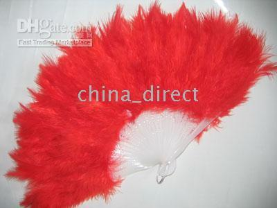 Wholesale Feather Fans Costume Halloween Party costume party fun HAND Fan pc