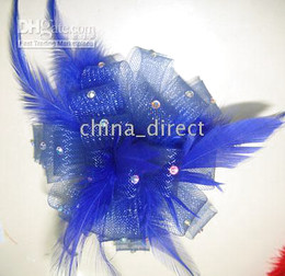 Feather FASCINATOR clip FLOWER PIN BROOCH Feathers hair clip 30pcs lot Gorgeous