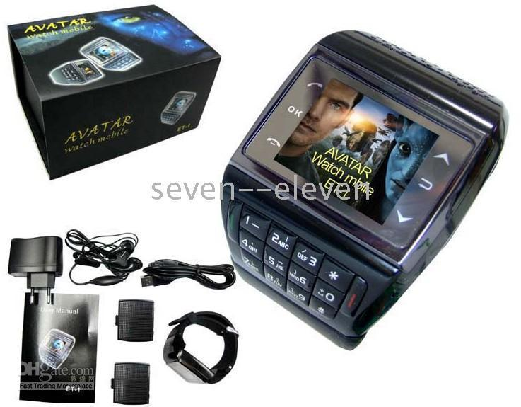 Wholesale AVATAR ET Watch Mobile Phone quot Touch Screen GB Quadband Numberic Keyboard