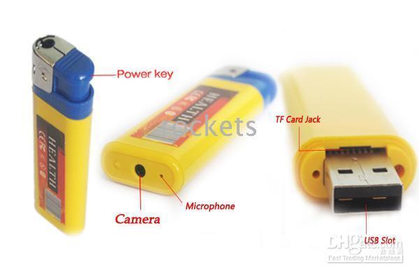 Wholesale 20pcs Mini DV DVR DC Spy Lighter Camera Video Recorder fps