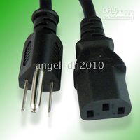 Wholesale 50pcs Computer Desktop Monitor PC AC Power Adapter Cable Cord