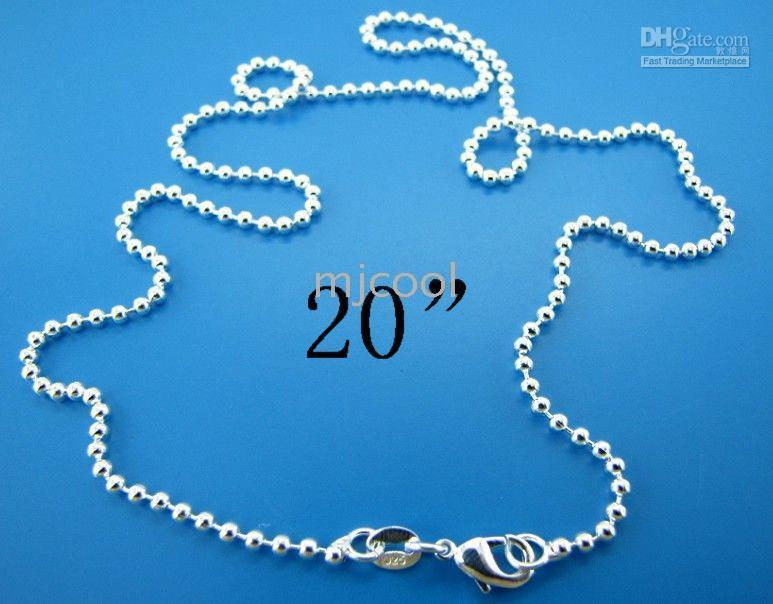 Wholesale beads chain silver necklace chain size mm quot chain