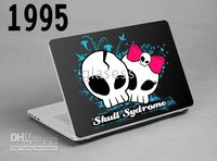 Wholesale Cranial skeleton design laptop Skin Protective Sticker