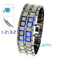 Wholesale Ice Samurai Japanese Inspired Burning Blue LED Digital Watch Bracele