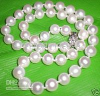 Wholesale 17inches mm akoya natural white pearl necklace