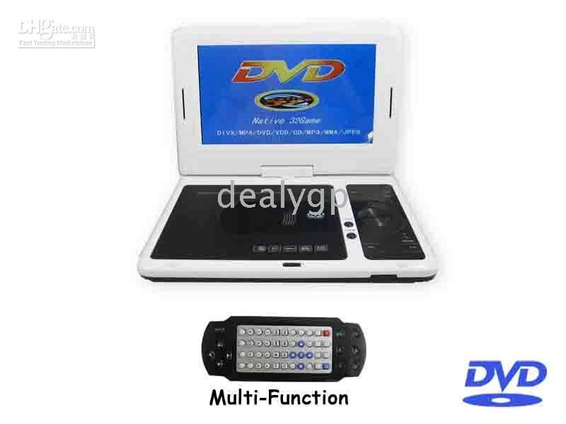 Wholesale 20PCS inch Portable DVD Players SONY Lens Support Bit game Card Reader