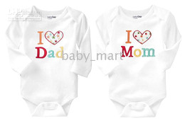 Wholesale I love mommy daddy baby bodysuits Baby romper baby one piece Baby Rompers baby wear baby clothes