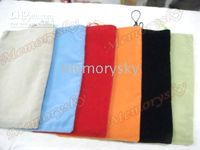Wholesale Flannel Sleeve For ipad Carry case Fabric Pouch Cloth Bag
