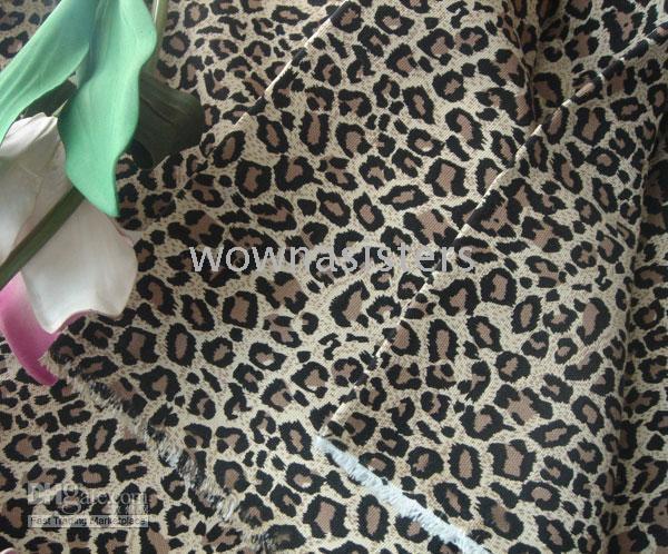 Cheap Fc2819 Leopard Patterns Sofa Fabric Canvas Cloth cushion bags textile handicraft