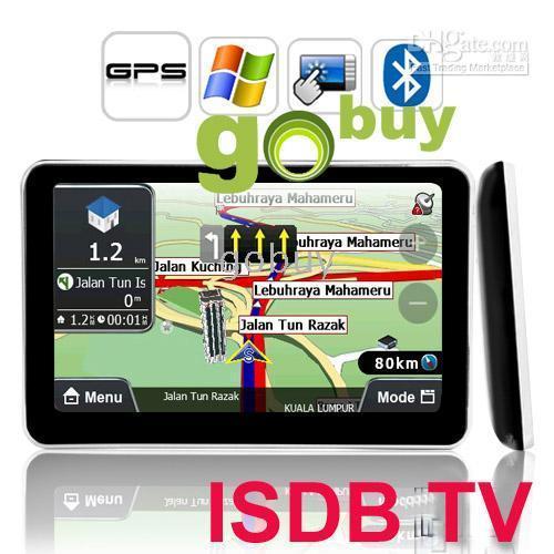 Wholesale 1pcs quot Car GPS Navigation BT MP3 MP4 FM built in GB with Map Digital TV ISDB T