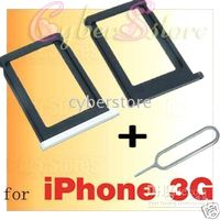 Wholesale 100pcs SIM Card Tray Holder Slot Eject Pin Tool for iphone G GS White Black